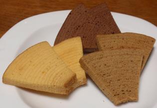 三種類のクッキー