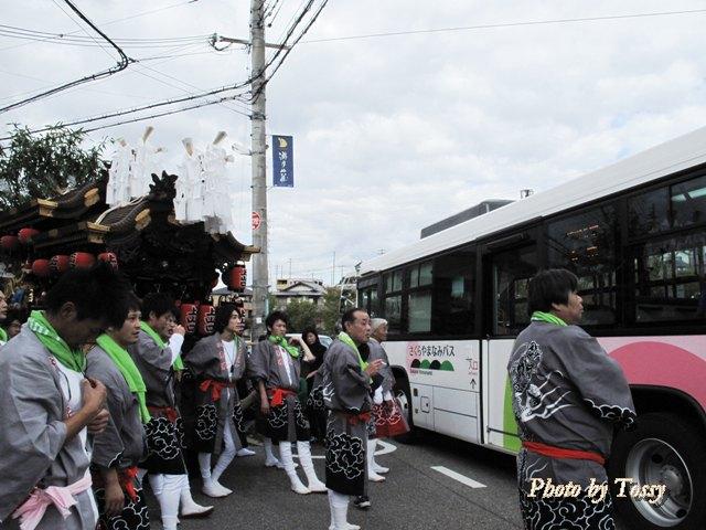 だんじりとさくらやまなみバス