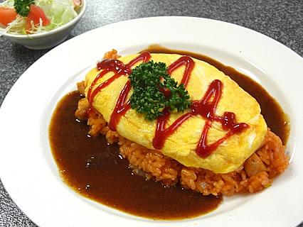 お食事処 まほろば オムライス(オムレツ)(700円)