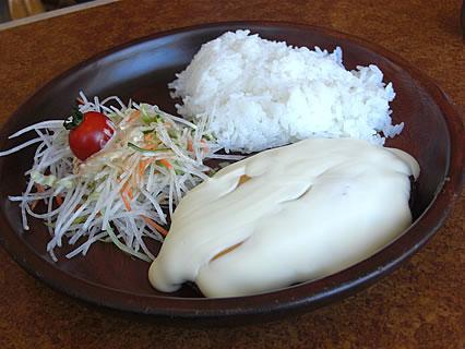 びっくりドンキー弘前店 フォンデュ風チーズバーグディッシュ(774円)