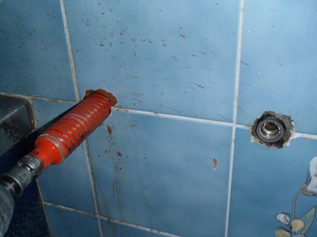 浴室壁貫通工事