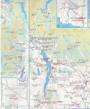 sウインダミア湖周辺地図