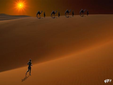 a_runner_and_a_caravan
