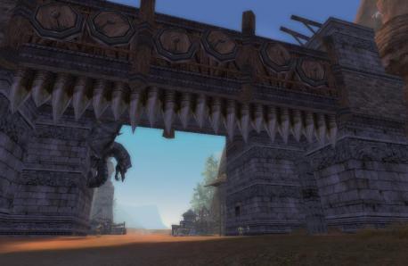 要塞の城門!