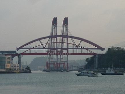 音戸第二大橋アーチ部架橋S2