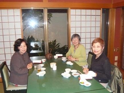 末広屋にて水島・松岡・沖本各夫人Oct2008