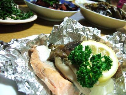 鮭のホイル蒸し焼き