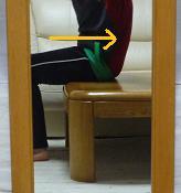 骨盤体操椅子 後ろ