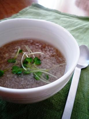 そば米いり蓮根スープ