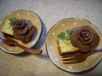 お茶菓子スイートポテト&バラ