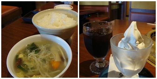 卵スープ&デザート