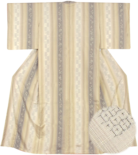 結城紬着物と帯セット