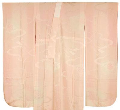 ピンク色の辻が花振袖