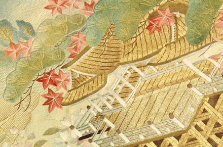清水寺刺繍袋帯