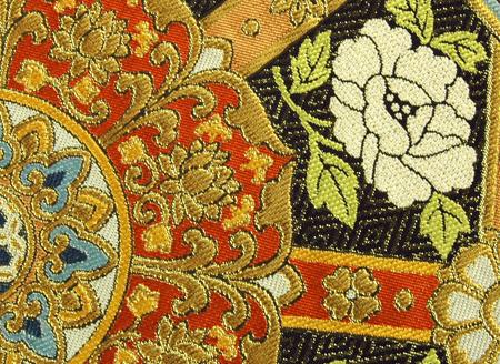 0820薔薇柄袋帯