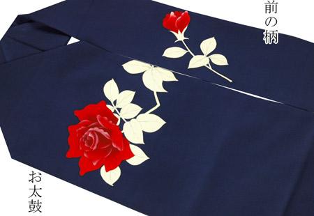 0924赤いバラの名古屋帯