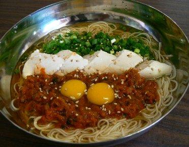 キムチ素麺