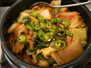蒸し野菜のチゲ⑤