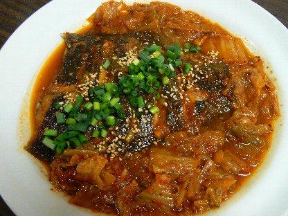カレイキムチ煮②