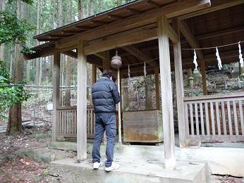 社長 椎茸神社お参り