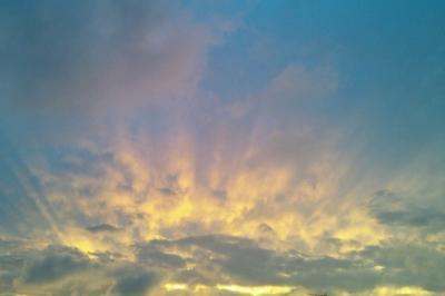 初秋の夕焼け