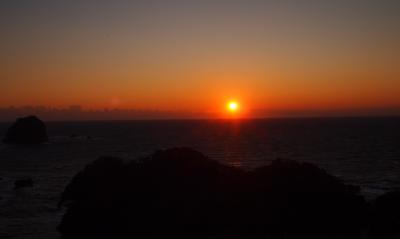 堂ヶ島の夕日・・