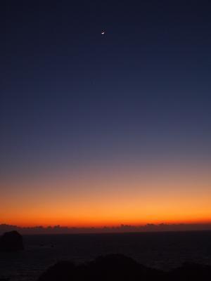 日没と月と星。(小っちゃいけど・・)