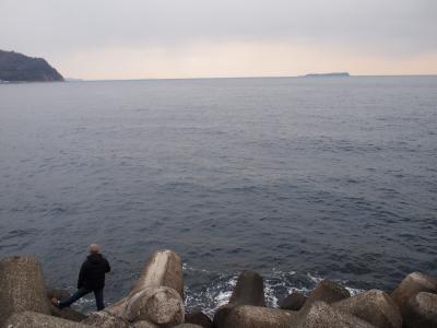 東伊豆。沖に見えるは初島。