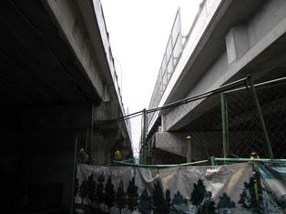 16号陸橋工事