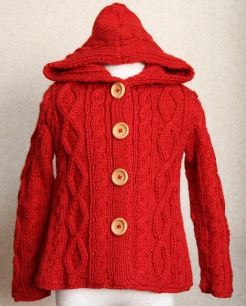 4歳用のジャケット・生徒さんの作品・赤がぴったりでしょ