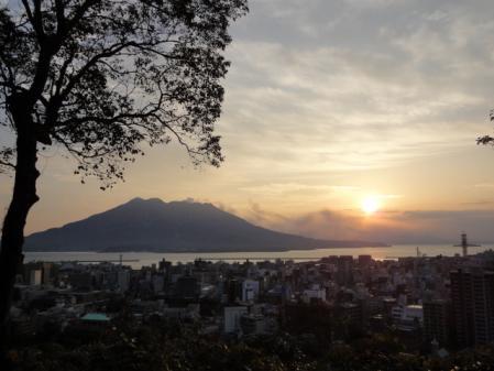日の出の桜島!