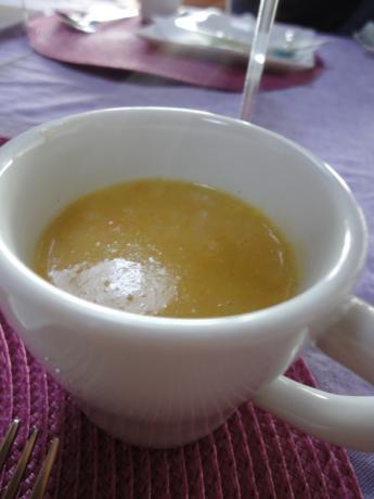 バニラ入りスープ!