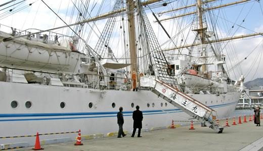 練習帆船「海王丸」神戸港中突堤寄港-1