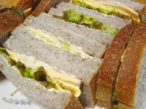 20091022ラズベリー酵母でサンドイッチ朝食用
