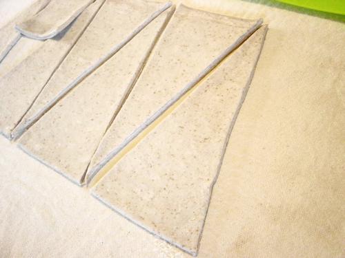 20091023ラズベリー酵母クロワッサン三角にカット