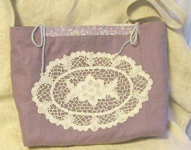 ①京紫リネンのショルダーバッグ