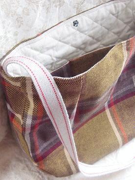 ⑤まーるいショルダーバッグ 内布