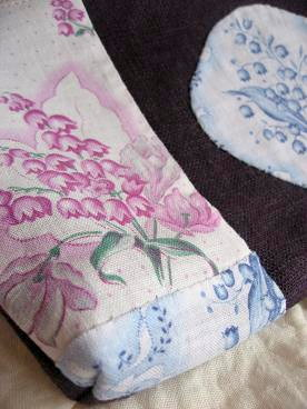 ④手縫いでパッチワーク