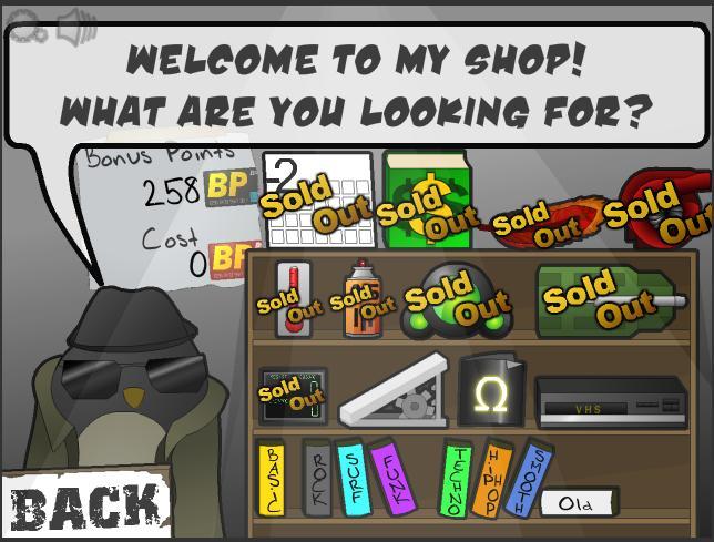 Learn to Fly 2 Bonus Shop