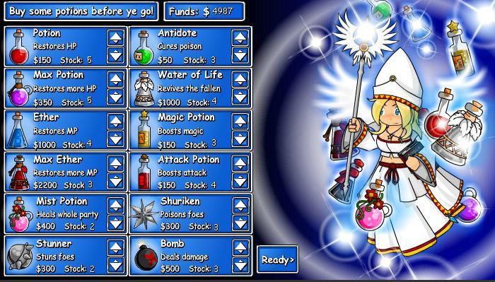 Epic Battle Fantasy 2 Shop