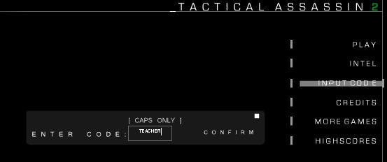 Tactical Assassin 2 code