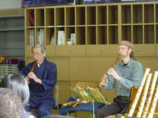 2003年2月19日《和楽器体験授業》美山中学校