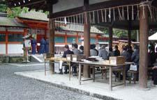 吉田神社にて2