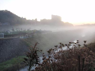 恩曾川の朝霧