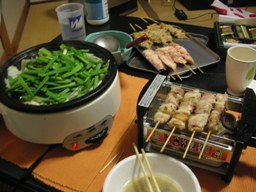 モツ鍋と焼き鳥