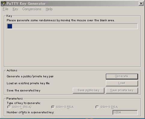 PuTTY Key Generator 2