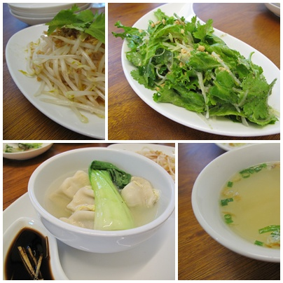 ファイブスター・カフェ 五星鶏飯 (ウー・シン・ジィ・ファン) 小皿料理たち