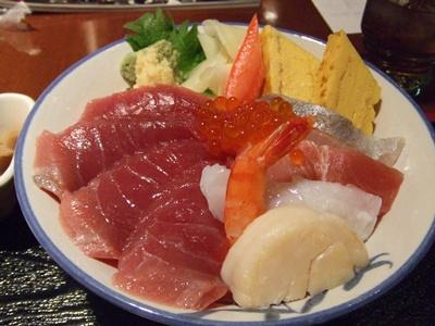 代官山 やまびこ 日替わり海鮮丼 アップ