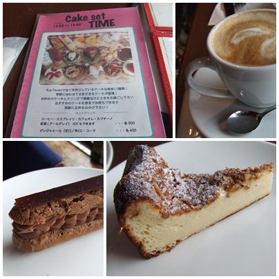 Rue Favart (リュ・ファヴァー) でケーキセット