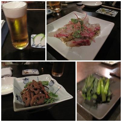 麻布 川上庵 お料理1
